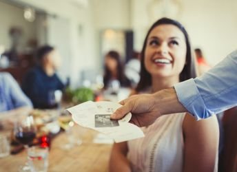 12519_-_Cards_Waiter_Returning_Bill_and_Credit_Card_to_Woman_Dining_at_Restaurant_Table_344px.jpg